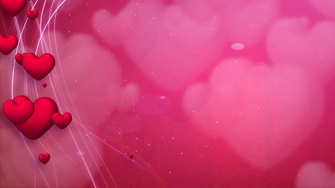 lines and hearts red romantic loop background - stock footage