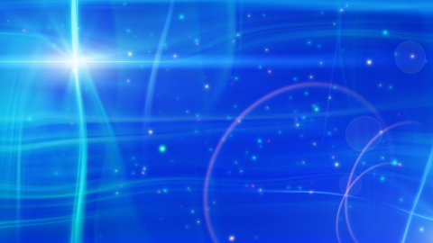 soft blue background flashes and particles loop - stock footage