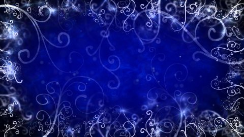 blue flourishes frame loop background - stock footage
