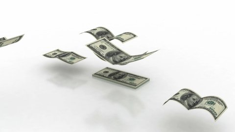 Flying US Dollar Banknotes (alpha) - stock footage