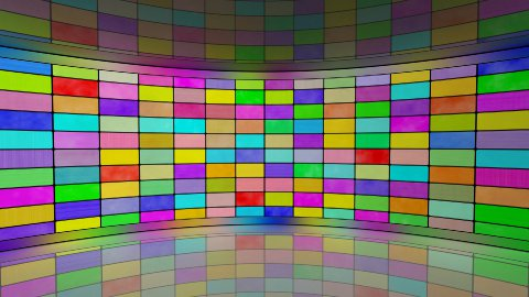multicoloured screens in virtual studio loop - stock footage