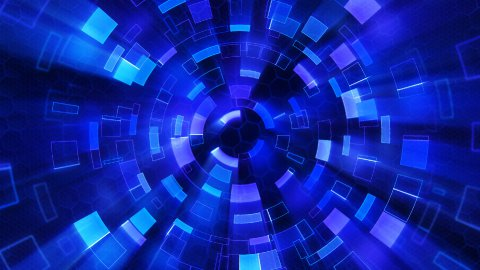 blue shiny circular segments blinking loop - stock footage