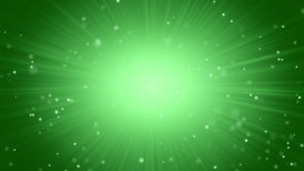 green abstract background light beams and particles