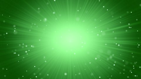 green abstract background light beams and particles - stock footage