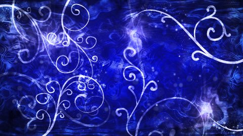 blue flourishes loop background - stock footage