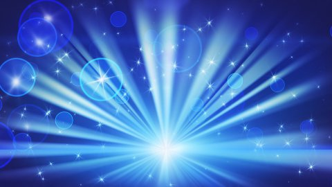 lights and shining stars blue loop background - stock footage