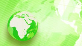 green background globe spinning loop - motion graphic