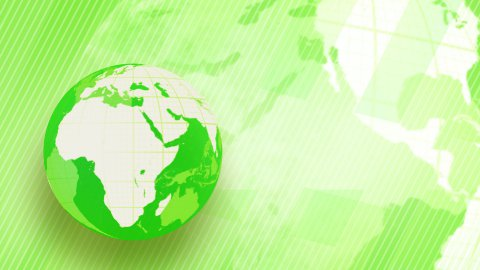 green background globe spinning loop - stock footage