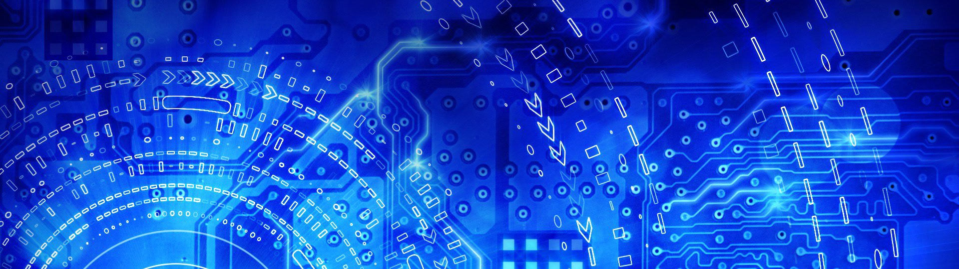 Blue computer circuit board background loop | computer generated seamless loop hi-tech motion background. blue computer circuit board - ID:12448