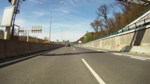 Driving on highway across Slovakia, time lapse - stock footage