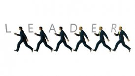 Business Team and LEADER Text against white - motion graphic