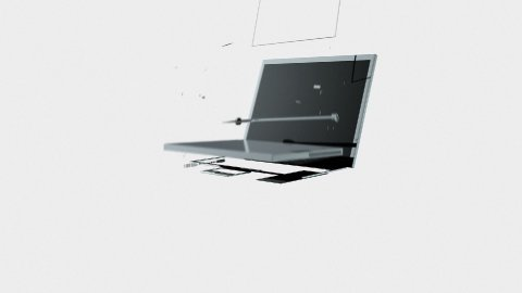 Mobile dissolve into Laptop against white - stock footage