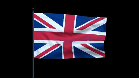 United Kingdom Flag Waving, Seamless Loop - stock footage