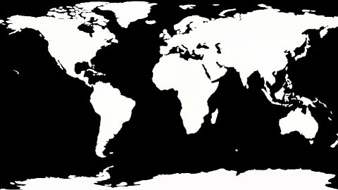 Drawing Political Map of the World, black and white - stock footage