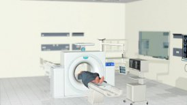 MRI Scan, Hospital Room, Camera panning, Alpha - editable clip, motion graphic, stock footage