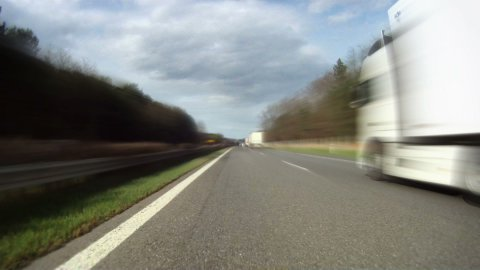 Driving on highway across Czech Republic, timelapse part 1 - stock footage