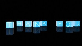 Thank You Boxes Falling against black - motion graphic