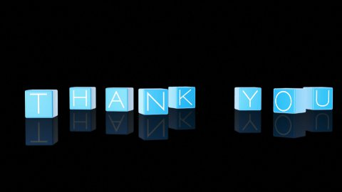 Thank You Boxes Falling against black - stock footage