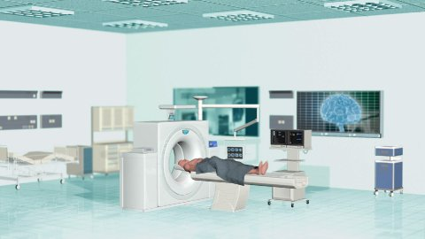 MRI Scan at Hospital, Camera panning - stock footage