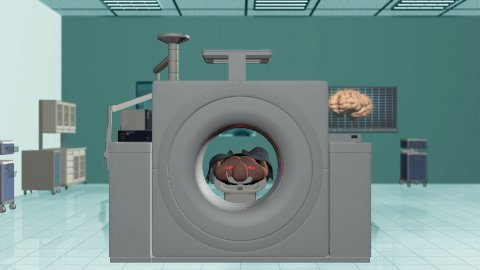 MRI Hospital, Camera Fly from Brain Scan - stock footage