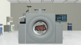 MRI Scan in Hospital Room - editable clip, motion graphic, stock footage