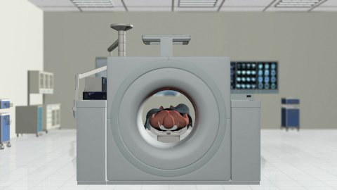 MRI Scan in Hospital Room - stock footage