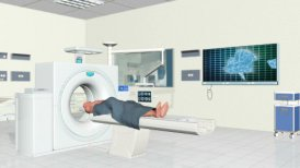 MRI Scanner at Hospital - editable clip, motion graphic, stock footage