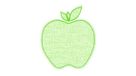 Nutrition Words forming Apple against white - stock footage