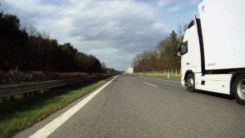 Driving on highway across Czech Republic, time lapse part 1 - stock footage