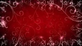 red flourishes frame loop background