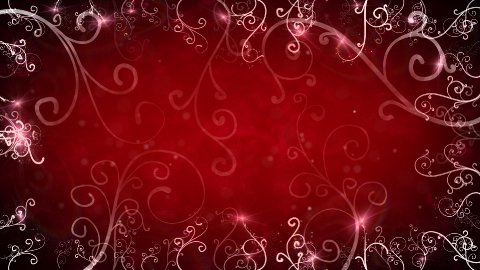 red flourishes frame loop background - stock footage