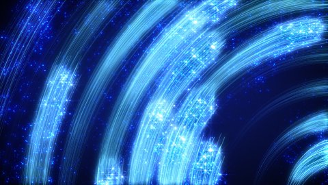 blue light streaks abstract loopable background - stock footage