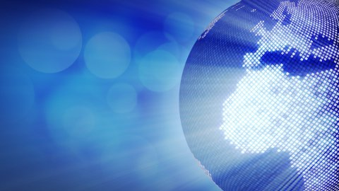 spinning shiny blue disco stylized globe loop - stock footage