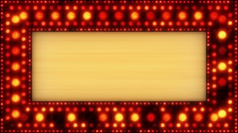 flashing lights golden banner loop - stock footage
