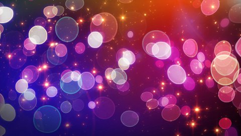 red blue circle bokeh lights and sparkles loop - stock footage
