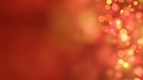 loopable abstract background red bokeh circles - stock footage