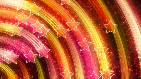 disco stars abstract loopable background yellow pink - stock footage