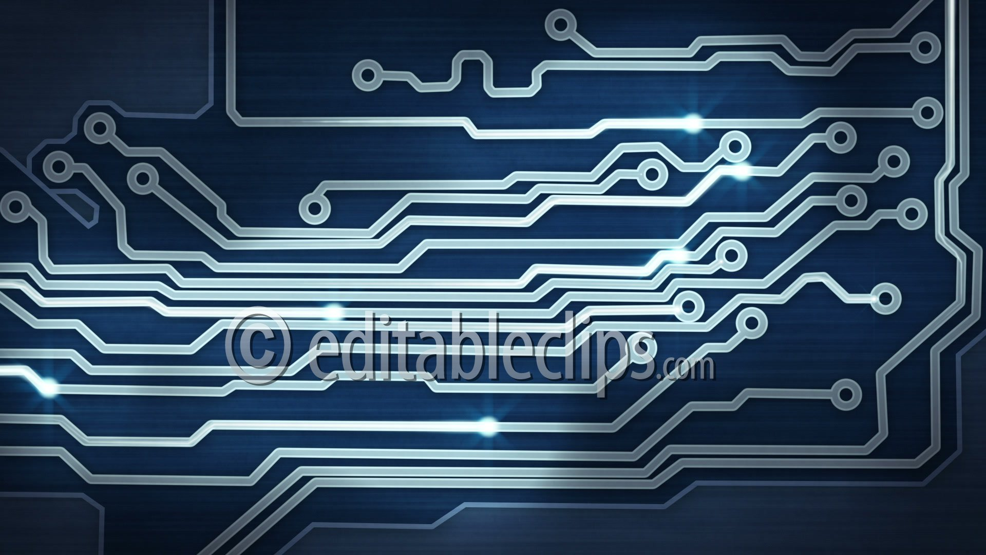 Blue circuit board providing, HD 1080 - Editable Clips