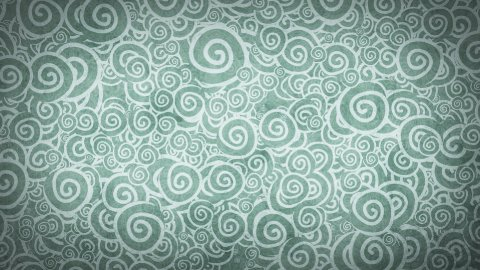 pale gray turquoise curles ornatment loop background - stock footage