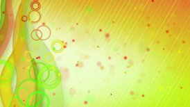 particles lines orange green loop background