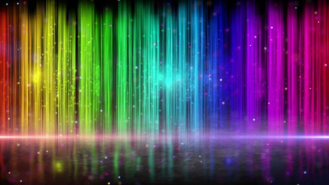 rainbow color stripes abstract loopable background - stock footage