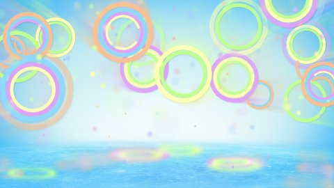 multicolored circles and particles loop - stock footage