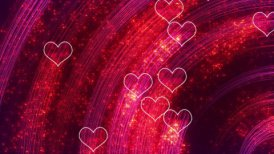 heart shapes loopable romantic background