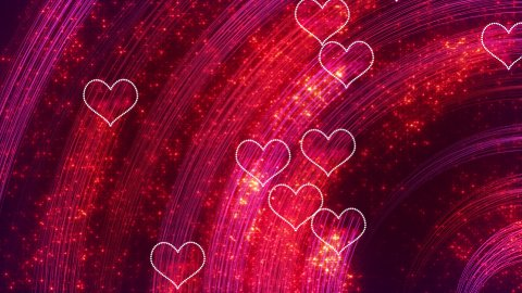 heart shapes loopable romantic background - stock footage