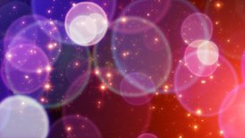 red blue big circle bokeh lights and sparkles loop - motion graphic