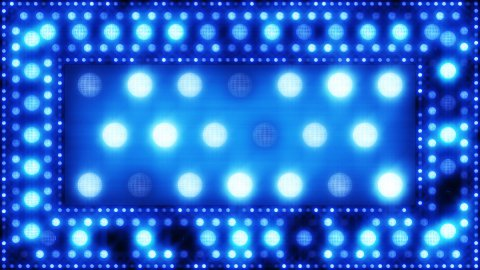 blue glittering light bulbs loopable background - stock footage
