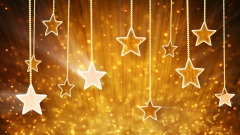 gold stars and particles loop background - stock footage