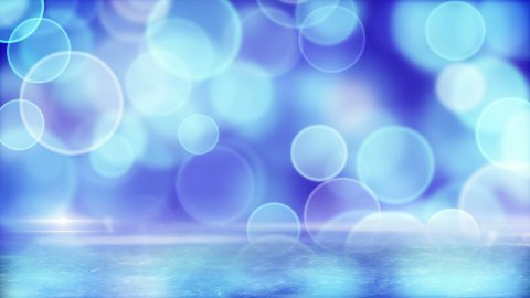blue circle bokeh lights and reflection on ice loop - stock footage
