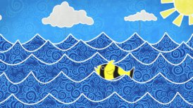 fishes in the sea loopable animation - motion graphic