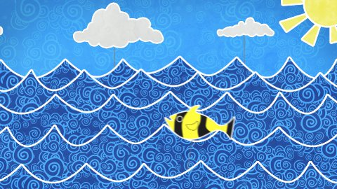 fishes in the sea loopable animation - stock footage